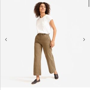 NWOT Everlane wide leg crop pants
